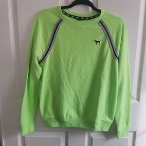 PINK Neon Green Oversized Sweatshirt XS